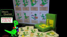 Dino handgefertigtes Quartettspiel