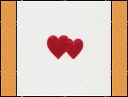 Foto 3 Diverse Streuteile – Thema Herzen - rot, pink