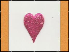 Foto 4 Diverse Streuteile – Thema Herzen - rot, pink