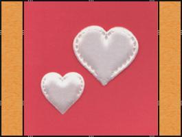 Foto 3 Diverse Streuteile - Thema Herzen - Weiß, Creme, Rosa