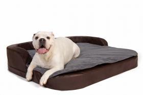 DoggyBed Hundekissen Medical Style Plus 80x100x12cm braun/Kunstleder + Kissen