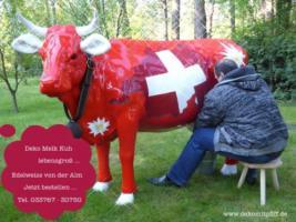 Du hast ein Grundstück in der Schweiz … vieilccht passt als Blickfang so ne Schweizer Deko Kuh oder ...