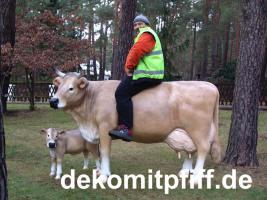 Foto 3 Du möchtest eine Deko Kalb mit Deko Kuh ?
