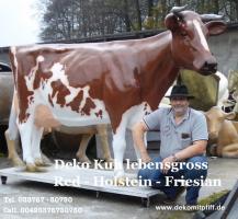 Du möchtest ein Red Deko Kuh Holstein Friesian mit oder ohne Horn ? oder vielleicht  …?