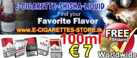E-Cigarette-Shisha Liquid Marlboro Flavor 100ml nur € 7 - versandkostenfrei