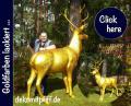 ES IST SO EINFACh so einen Deko Hirsch per Speditionversang geliefert zu bekommen ...