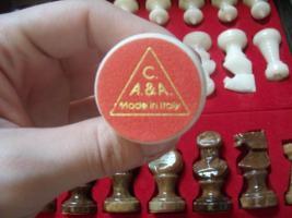 Echt Italienisches Alabaster Schachspiel