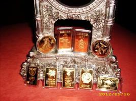 Echtgold vergoldete Barren & Münzen...