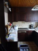 Echtholzküche mit Theke