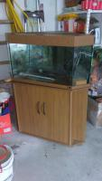 Eck Aquarium 150ltr mit Pumpe CO2 Anlage