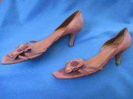 Foto 4 Edel * Original VINTAGE * 3D Blumen * Blüten * Flower- Power * Echt Leder * High Heels * Peep Toes * Cut Out * Pumps * Schuhe ''LODI'' Gr. 6½ * 39½ * 39,5 * zimt * lachs * aubergine * Pastell *