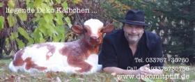 Ein Deko Kalb gratis dazu beim kauf einer Deko Kuh lebensgross … Tel. 00493376730750