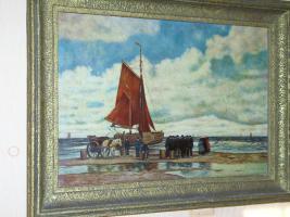 Foto 4 Ein wunderschönes altes Gemälde Krabbenfischer 18/19 Jahrhundert
