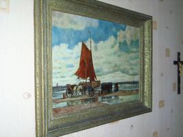 Foto 7 Ein wunderschönes altes Gemälde Krabbenfischer 18/19 Jahrhundert