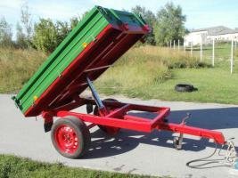 Einachs-Kippanhänger hydr. für Kleintraktoren 1500kg Nutzlast