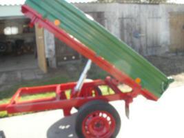 Foto 3 Einachs-Kippanhänger hydr. für Kleintraktoren 1500kg Nutzlast