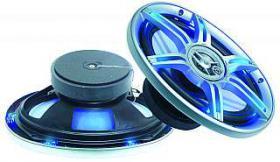 Einbaulautsprecher MEGAKICK ''LED-699'' Schutzgitter mit LEDs, 6x9''
