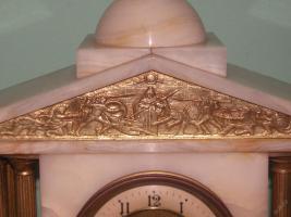 Foto 4 Einzigartig, dekoriert, figural Marmor - bronze Uhr - FRANCE 1900