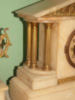 Foto 6 Einzigartig, dekoriert, figural Marmor - bronze Uhr - FRANCE 1900