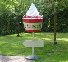 Eisbecher mit Standfuss und Richtungspfeil, 135cm  Artikel-Nr.: 684 ...