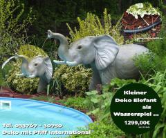 Elefant als Wasserspiel für Ihren Pool …. www.dekomitpfiff.de ...