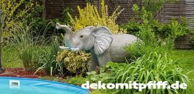 Foto 2 Elefant als Wasserspiel für Ihren Pool …. www.dekomitpfiff.de ...