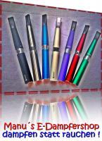 Foto 2 Elektrische Zigaretten in verschieden Farben, Liquids in ca.25 verschiedenen Geschmacksrichtungen