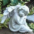 Engel für draussen - Trostengel sitzend schlafend, Grabfigur, Grabengel. Höhe 14,5 cm