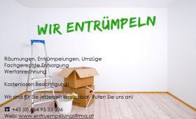 Entrümpelungen, Räumungen, Haushaltsauflösungen und Ankauf Verlassenschaften