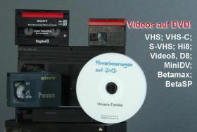 Erinnerungen sichern - Videokassetten auf DVD (VHS, S-VHS, MiniDV, Hi8 digitalisieren)