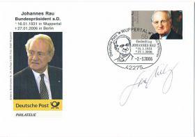 Ersttagsstempel Bundespräsident a. D. Johannes Rau ! ! !
