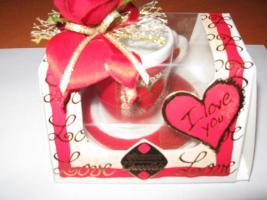 Espressotasse I love you ( Geschenkset )
