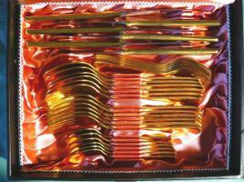 Foto 2 Essbesteck 36 Teile 24 Karat hartvergoldet (BE026)