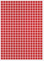 Etiketten / Aufkleber quadratisch z.B. 10x10 mm = 408 Stück  -  46 Farben zur Auswahl