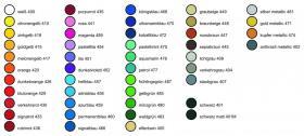 Foto 2 Etiketten / Aufkleber quadratisch z.B. 10x10 mm = 408 Stück  -  46 Farben zur Auswahl