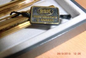Foto 2 Etui Parker Füller und Kugelschreiber 22 Karat Gold unbenutzt