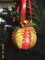 Foto 2 Exklusive Weihnachtsbaumkugeln + Spitze, jede Kugel handgearbeitet