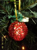 Foto 9 Exklusive Weihnachtsbaumkugeln + Spitze, jede Kugel handgearbeitet