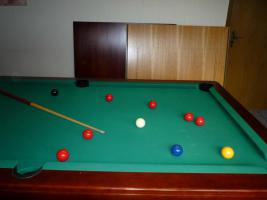 ''Exklusiver Henzgen Poolbillard-Tisch aus Mahagoni + Abdeckplatte''