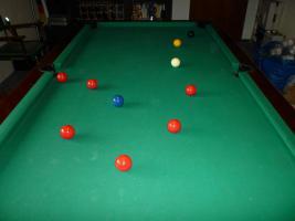 Foto 6 ''Exklusiver Henzgen Poolbillard-Tisch aus Mahagoni + Abdeckplatte''