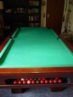 Foto 11 ''Exklusiver Henzgen Poolbillard-Tisch aus Mahagoni + Abdeckplatte''