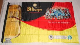 Foto 2 Fahne 80x120 cm Bitburger mit Fußball-Nationalmannschaft 2006  NEU