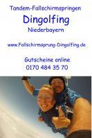 Fallschirmspringen Gutschein Geschenk Bayern Dingolfing Landshut