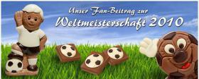 Fanrtikel WM 2010 aus Premium-Schokolade