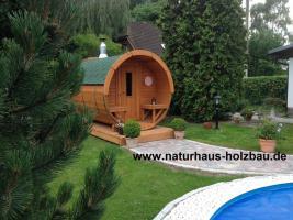 Foto 24 Fass Sauna, Sauna Pod, Saunafass, Gartensauna, Saunapod, Fasssauna