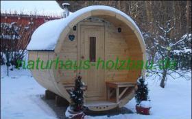 Foto 3 Fasssauna, Saunafass, Fass Sauna, Sauna Pod, Saunakota, Gartensauna, Aussensauna, Saunatonne, Sauna