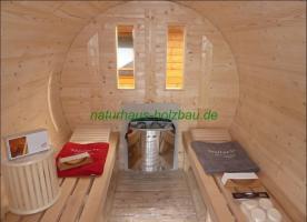 Foto 17 Fasssauna, Saunafass, Fass Sauna, Sauna Pod, Saunakota, Gartensauna, Aussensauna, Saunatonne, Sauna