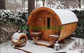 fasssauna saunafass saunapod sauna pod aussensauna. Black Bedroom Furniture Sets. Home Design Ideas