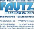 Fautz Beschichtungen GmbH Dachreinigung-Dachbeschichtung, Balkonsanierung,Terrassensanierung, Balkonabdichtung, Terrassenabdichtung, 72336 Balingen,Rottweil,Sindelfingen,Horb,Stuttgart, Sindelfingen Fautz Tel.07832/969693