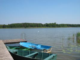Ferienhaus im Naturschutzgebiet in Polen am See